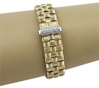Roberto Coin Roberto Coin 18k Yellow Gold Appassionata Woven Bracelet With Diamonds