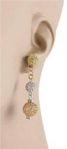 Roberto Coin Roberto Coin 18kt Tri Gold Triple Mesh Ball Drop Dangle Earrings
