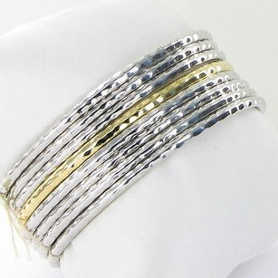Roberto Coin Roberto Coin Bracelets Set Of Martellato 18k Yellowgold Sterling 925