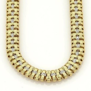 Roberto Coin Roberto Coin Classic Appassionata Diamonds Three Row Weave Necklace