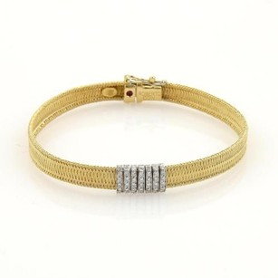 Roberto Coin Roberto Coin Diamonds 18k Two Tone Gold Basket Weave Bracelet