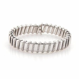 Roberto Coin Roberto Coin Nabucco Diamonds 18k White Gold Open Flex Bracelet