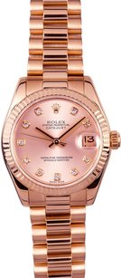 Rolex Rolex Midsize DateJust Rose Gold Diamond President Watch