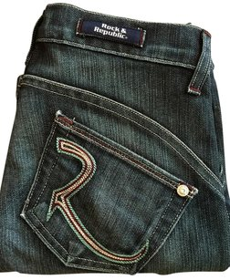 Rock & Republic Embroidered Boot Cut Jeans