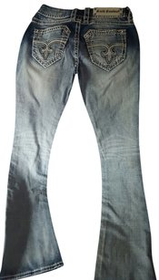 Rock Revival Boot Cut Jeans-Light Wash