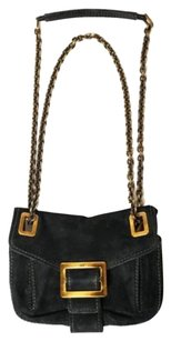 Roger Vivier Suede Metro Chain Buckle Handbag Cross Body Bag