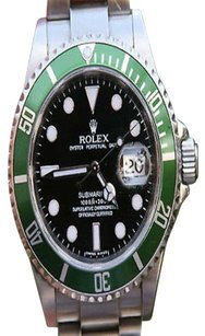Rolex Rolex, Unisex, Stainless, Steel, Submariner, Green, Anniversary, Rare, Watch, Watches