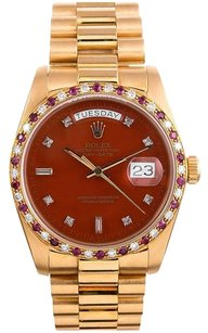 Rolex 18K Day- Date Presidential Custom Red & Ruby diamond Men's Watch