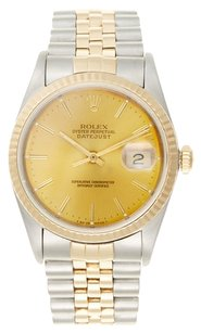 Rolex 18K/SS Datejust Champagne Dial 36mm Men's Watch