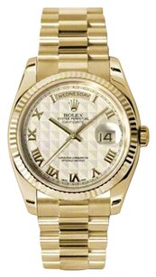 Rolex 2007 (Engraved) Rolex Yellow Gold Day Date President Mens Watch 118238IPRP