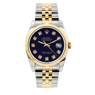 Rolex 36MM ROLEX DATEJUST GOLD S/S DIAMOND WATCH WITH ROLEX BOX & APPRAISAL