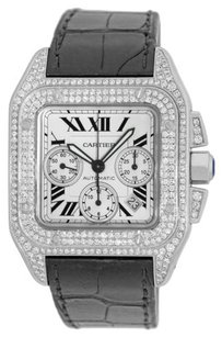 Cartier Cartier Santos 100 XL Chronograph Stainless Steel Custom Diamond Men's Watch