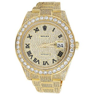 Rolex Custom Watch Rolex Date Just Ii Flooded Genuine Diamonds Mm 15.50 Ct.