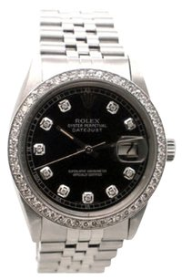 Rolex Rolex Datejust 16014 Stainless Steel Custom Diamond Men's Watch