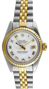 Rolex Datejust 18K/SS White Dial Ladies Watch