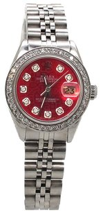 Rolex DateJust Custom Diamond Red Jubilee Dial Ladies Watch