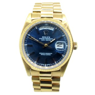 Rolex Day Date 18K Yellow Gold blue Dial Men's Presidential Watch