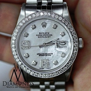 Rolex Diamond Rolex Datejust 36mm Jubilee Bracelet Mother Of Pearl Diamond Dial Watch