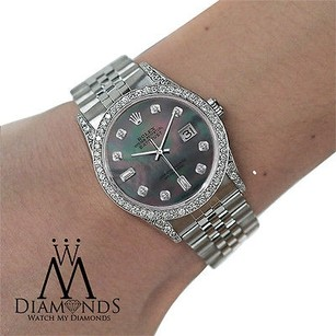 Rolex Diamond Rolex Datejust Mm Dial Stainless Steel Watch Jubilee Bracelet