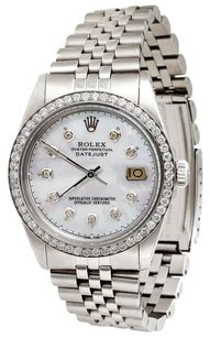 Rolex Diamond Rolex Datejust Watch White MOP Dial Mens 36mm Jubilee Band 2.20 Ct.