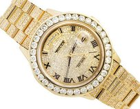 Rolex Excellent 18k Yellow Gold Rolex 18038 Day-date Presidential Diamond Watch Ct