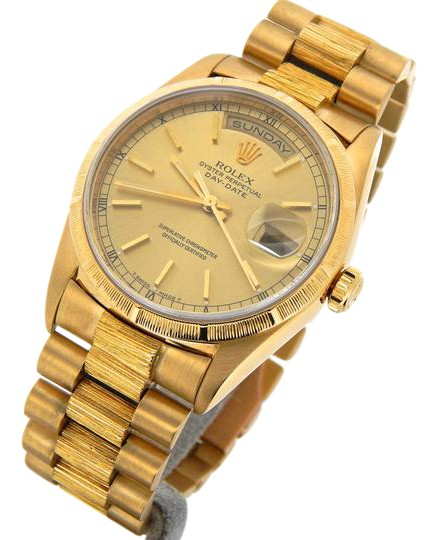 Rolex Gold Mens 18k Daydate President Champagne 18238 Watch Tradesy
