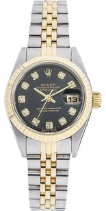 Rolex Rolex Datejust 18k/ss Original Diamond Laides Watch