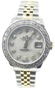 Rolex Ladies 26mm Rolex Two-Tone DateJust Diamond Watch