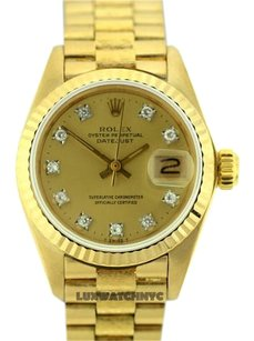 Rolex Ladies Presidential 18K Gold Watch with Diamond Dial