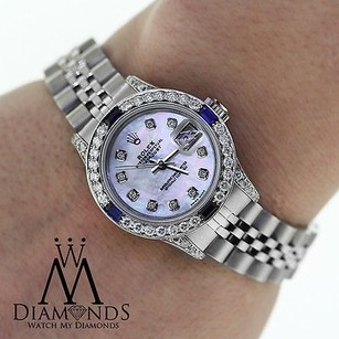 Rolex Ladies Rolex Datejust 26mm Jubilee Bracelet Diamonds And Sapphires Bezel 79160