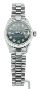 Rolex Ladies Rolex Datejust Stainless Steel President Watch Tahitian Mop Diamond Dial