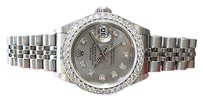 Rolex Ladies Rolex Oyster Perpetual Datejust Diamond Bezeldial Stainless Steel Watch