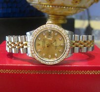 Rolex Ladies Rolex Oyster Perpetual Datejust Diamonds Stainless Steel And Gold Watch