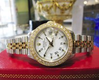 Rolex Ladies Rolex Oyster Perpetual Datejust Diamonds Steel And Gold Watch Circa 1985
