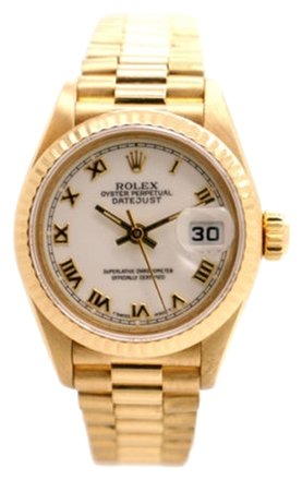 Rolex Rolex Datejust 69178 18K Yellow Gold White Dial Ladies Presidential Watch