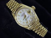 Rolex Ladies Rolex Solid 18k Yellow Gold Datejust President Wmop Diamond Dial 6917