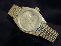 Rolex Ladies Rolex Solid 18kt 18k Yellow Gold Datejust President Watch Champagne 69178