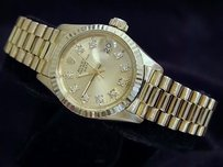 Rolex Ladies Rolex Solid Yellow Gold Datejust Gold Diamond 6917