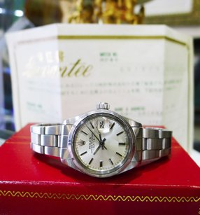 Rolex Ladies Vintage Rolex Oyster Perpetual Date 6919 Stainless Steel Watch Circa 1975