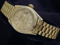 Rolex Lady Rolex Solid 18k Yellow Gold Datejust President Watch Wtapestry Dial 69178