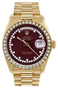 Rolex Men's 18K Day- Date Presidential Custom String Diamond dialWatch