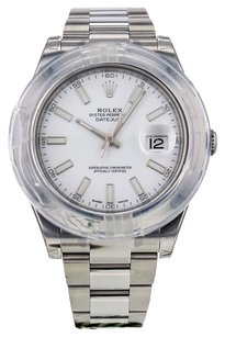 Rolex Men's DateJust II 116300 41mm Watch in Stainless Steel with Papers RLXDJ2S59