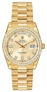 Rolex Men's Daydate Presidential 18K Gold Diamond Watch