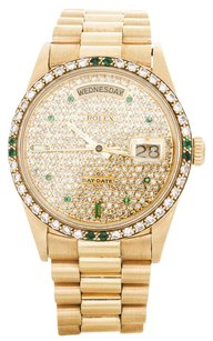 Rolex Men's Rolex 18k Yellow Gold Diamond Day-Date President Watch