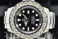 Rolex Mens Custom Rolex Mm Sea Dweller Deep Sea Genuine Diamond Watch