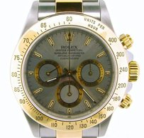 Rolex Mens Rolex 2tone 18k Yellow Goldstainless Steel Cosmograph Daytona Slate 16523