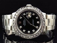 Rolex Mens Rolex 40mm Datejust Oyster Channel Set Stainless Steel Diamond Watch Ct