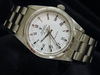 Rolex Mens Rolex Air-king No Date Watch Stainless Steel Wwhite Dial 14000