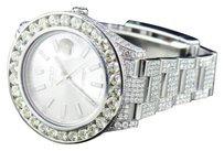 Rolex Mens Rolex Date Just Ii Iced Out Flooded With Genuine Diamonds Mm