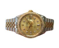 Rolex Mens Rolex Datejust Diamonds Two-tone Yellow Gold Watch